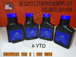 4 - 2 cycle mix oil Full Synthetic with stabilizer 50:1 2 ST