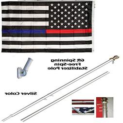 ALBATROS 6ft Aluminum Spinning Tangle Free Stabilizer Flag P