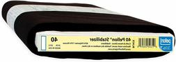 black 20-inch x 10-yard Sew-In Mid-weight Stabilizer black g