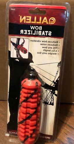 """Allen Bow Stabilizer 4.5"""" Long Red and Black #15411 NEW"""