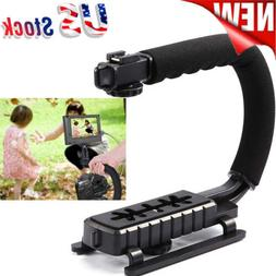 C/U shape Bracket Handle Grip Stabilizer for DSLR Camera Cam
