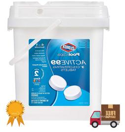 """12 lbs Chlorinating Tablets Bucket 3"""" Inch Tabs Stabilized"""