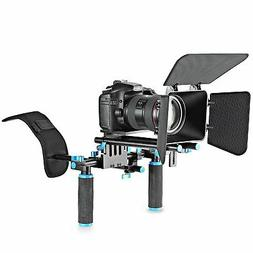 Movie Video Making Rig Set System Kit  Shoulder Mount+ 15mm