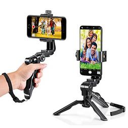 ergonomic swivel smartphone handheld grip stabilizer tripod