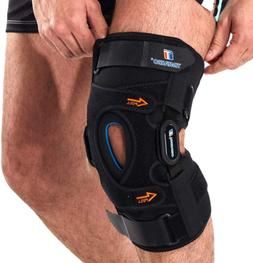 Hinged Knee Brace,Gel Patella Support with Removable Dual Si