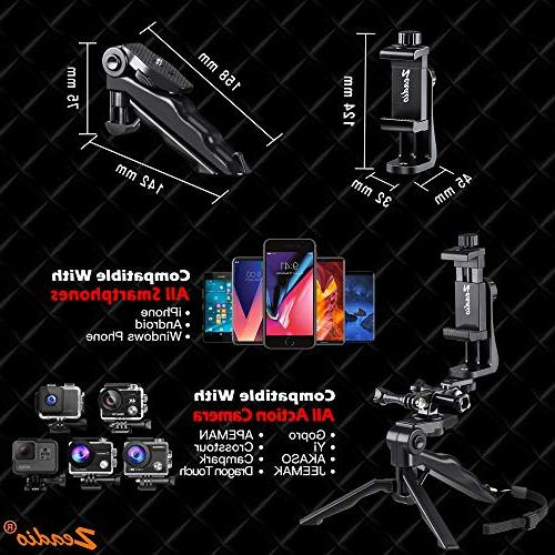 Zeadio Stabilizer Handle Steadycam Samsung and Phones, Angles Simultaneously