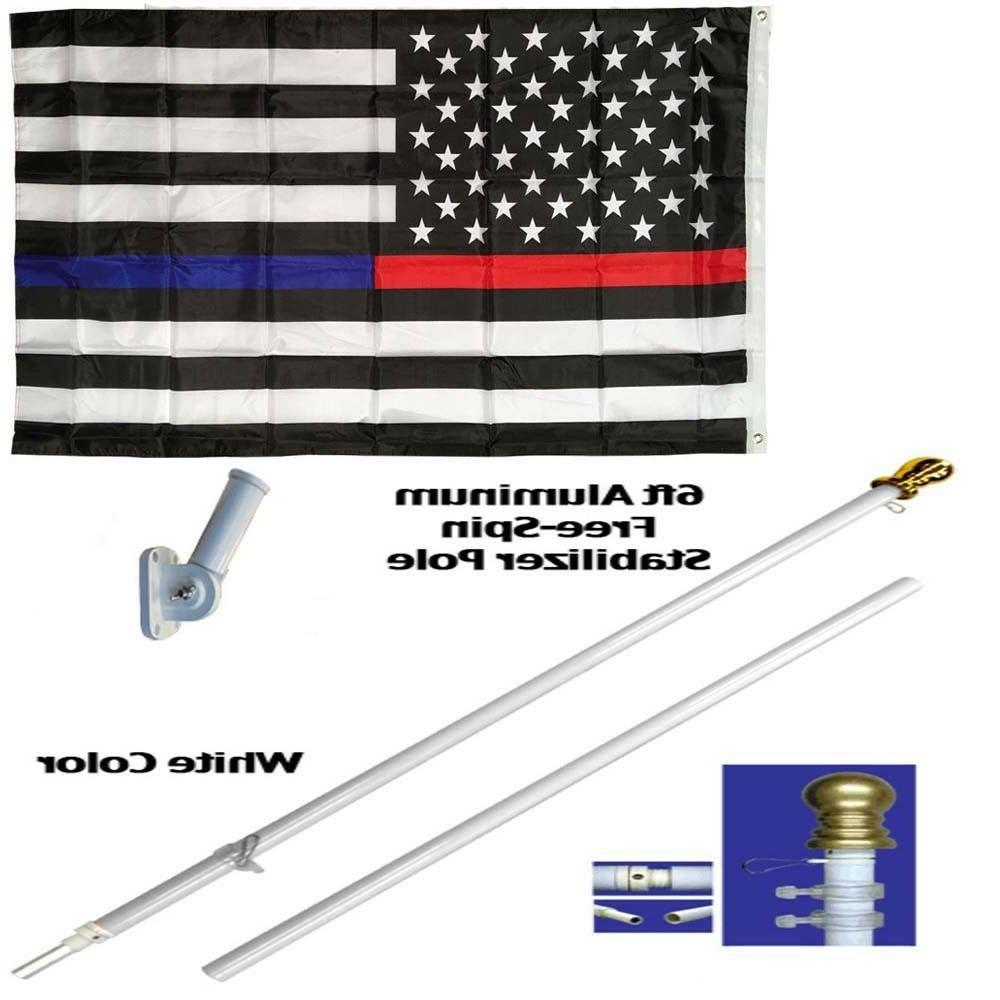 6ft aluminum spinning tangle free stabilizer flag