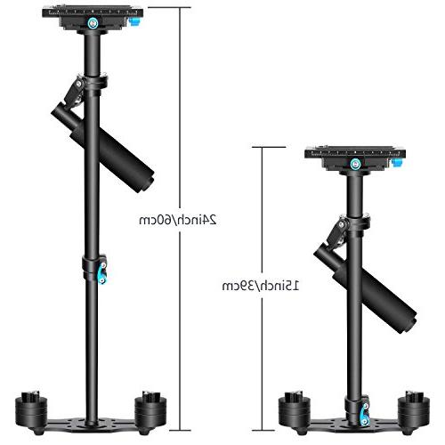 Neewer Aluminium Alloy inches/60 centimeters Handheld with 3/8 Screw for Other DV pounds/3 kilograms