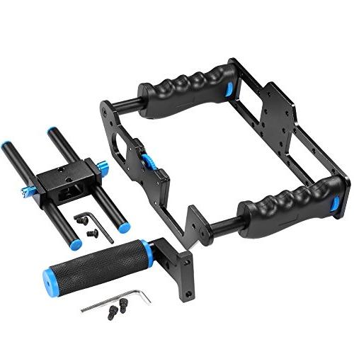 Neewer Alloy Camera Video Making Kit Handle Grip15mm Rod DSLR Cameras Such as Canon III 700D D7200
