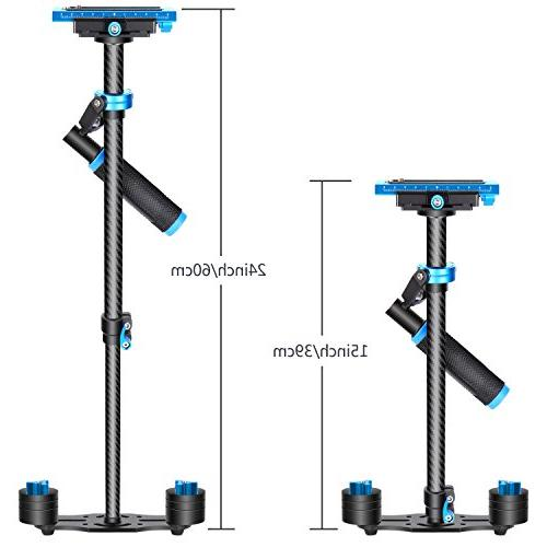 "Neewer Handheld Stabilizer with Release 1/4"" and 3/8"" and Video to 6.6lbs/3kg"