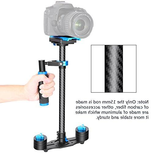 Neewer Carbon Fiber inches/60 Handheld Stabilizer with Screw Quick Shoe Plate for Canon Video DV up 6.6 pounds/3