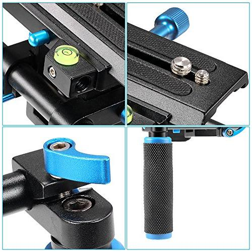 Neewer With Camera/Camcorder Mount Soft Rubber Pad and Dual-hand Handgrip All DSLR Cameras and DV