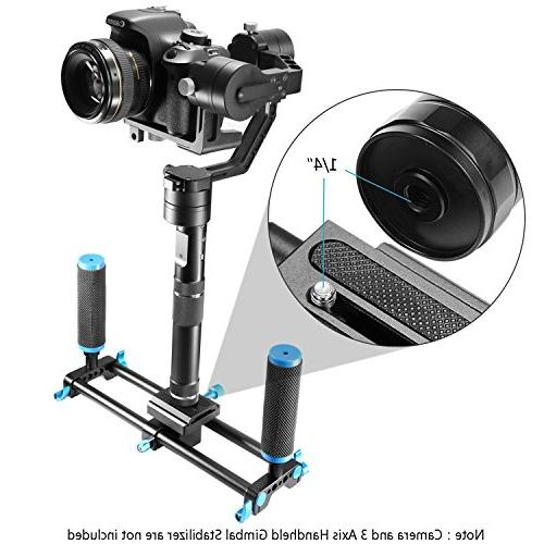 Neewer Dual Handle Grip with 1/4 inch Quick Plate, for Canon, Sony, Olympus, Pentax, Fujifilm, 3 Stabilizer
