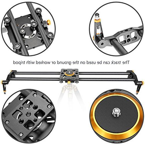 Neewer Carbon Slider Video Stabilizer with 6 Bearings for DSLR DV Camcorder Photography, up to 17.5 kilograms