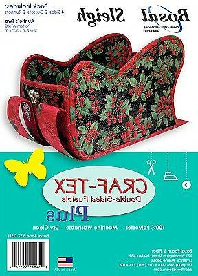 craf tex winter sleigh double sided fusible