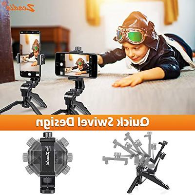 Zeadio Ergonomic Swivel Handheld Grip Stabilizer Tripod Selfie Stick