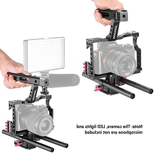 Neewer Camera Video Kit with for A7 A7SII A7R A7RII A6500 Cameras,Mount Follow Focus,Matte Box,Microphone,LED,Monitor,Flash