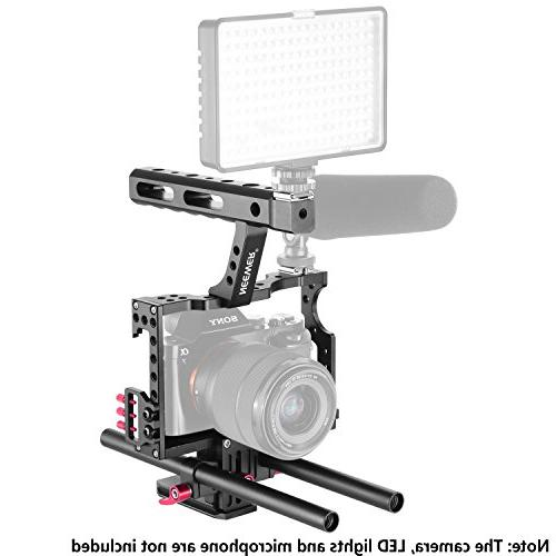 Neewer Camera Cage Kit with Handle for Sony A7 A7R A7RII A6000 A6500 Panasonic GH4 GH3 Cameras,Mount Follow
