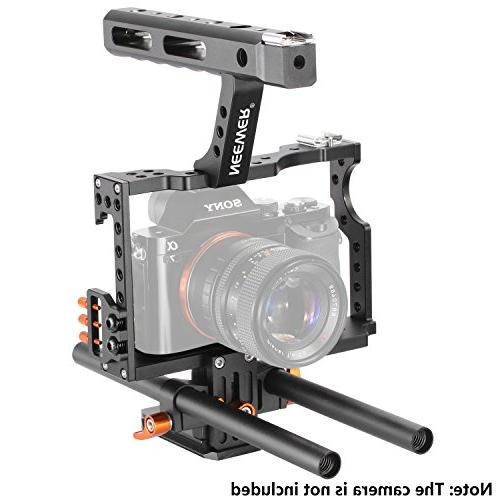 Neewer Movie Rig Camera Kit With for Sony A7 A7SII A7R A6000 A6300 GH4 GH3 Mount LED