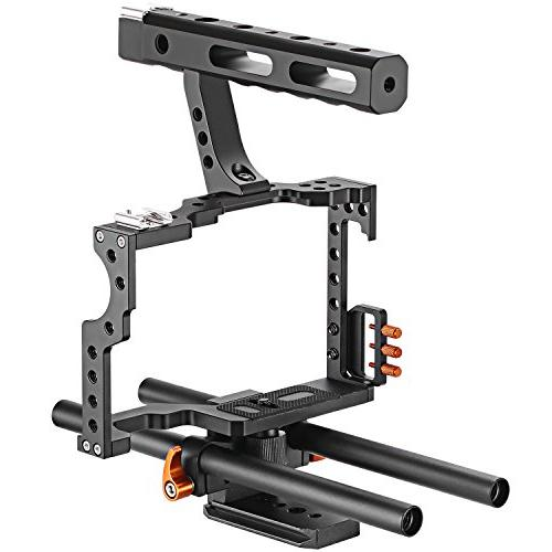 Neewer Movie Making Rig Camera Video Cage Kit With Handle for A7 A7SII A7II A6000 A6500 GH4 GH3 Cameras to Mount Microphone Monitor Flash,