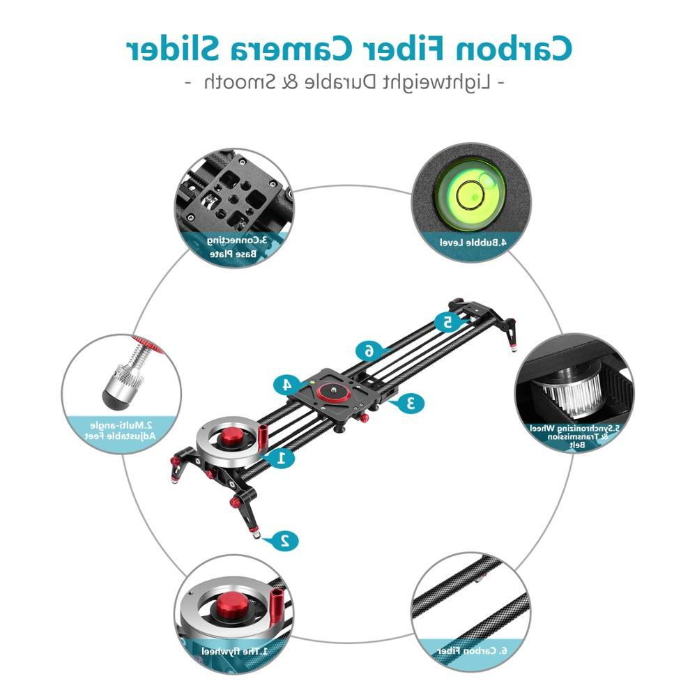 <font><b>Neewer</b></font> Camera Slider Track Dolly Rail 39-inch/100cm Counterweight Light Carbon