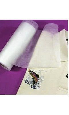 Fusible No-Show Poly-Mesh Iron On Cut Away Embroidery Stabil