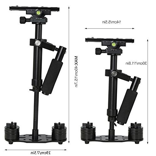 Koolertron S40 Stabilizer Steadicam for Camera DV Nikon Canon, with Quick Release
