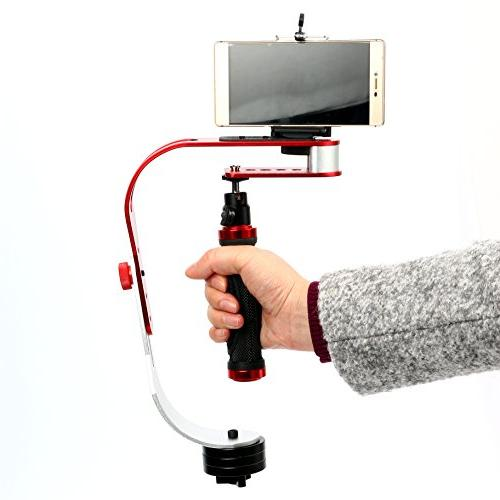 Yaekoo Handheld camera stabilizer Steadicam for Smartphone, Nikon up to 2.1 lbs.