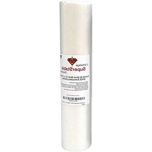 Invisible Mesh Stabilizer White 1.5 oz 12 inch x 10 Yard Rol