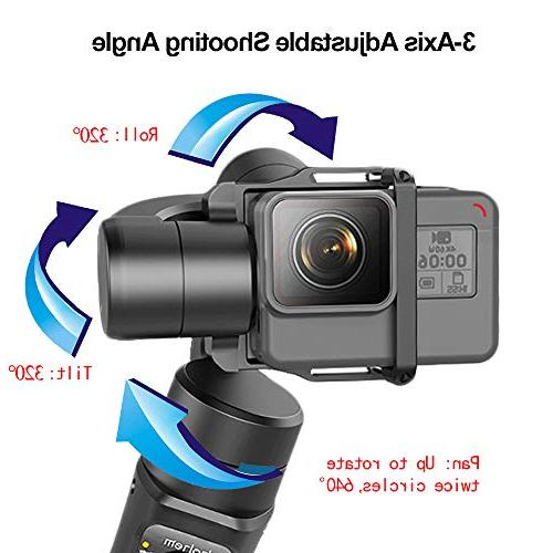 Hohem Pro Handheld Gimbal Stabilizer Gopro Cam 12h Run-Time, for Time-Lapse, Tracking, Auto Panoramas