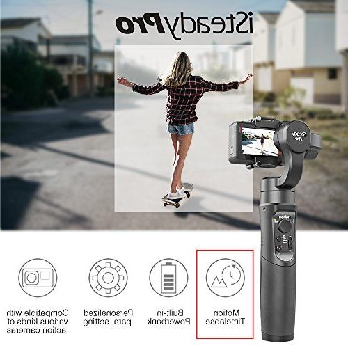 Hohem iSteady Pro 3-Axis Handheld Gimbal Gopro Hero 2018/6/5/4/3+/3, Cam 4K, AEE, Sports Cams for Tracking, Auto Panoramas
