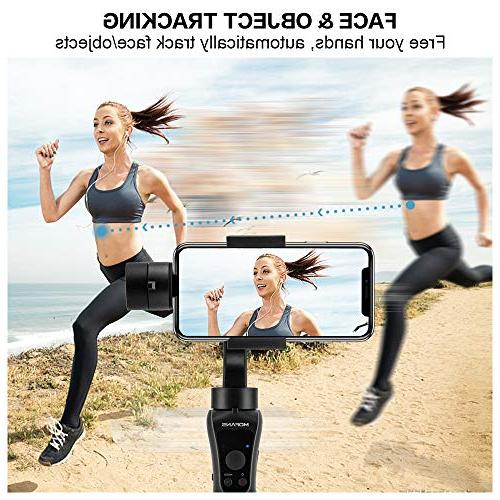 """MOFANS Gimbal Stabilizer w/Tripod, Stabilizer iPhone and Under 6.0"""", Support iOS APP"""
