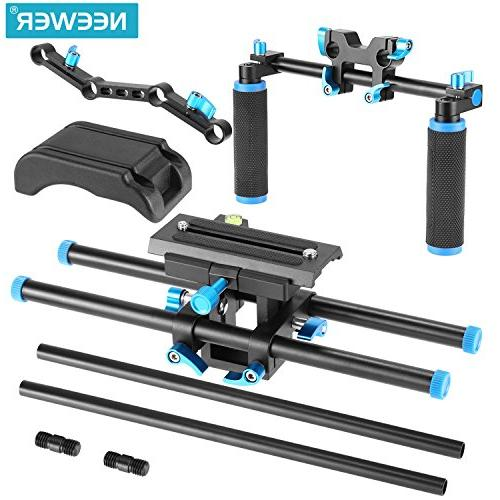 Neewer Camera Movie Video Making Kit Canon Sony and Other DSLR Cameras,DV Camcorder,Include:Shoulder Rod Raised Rail