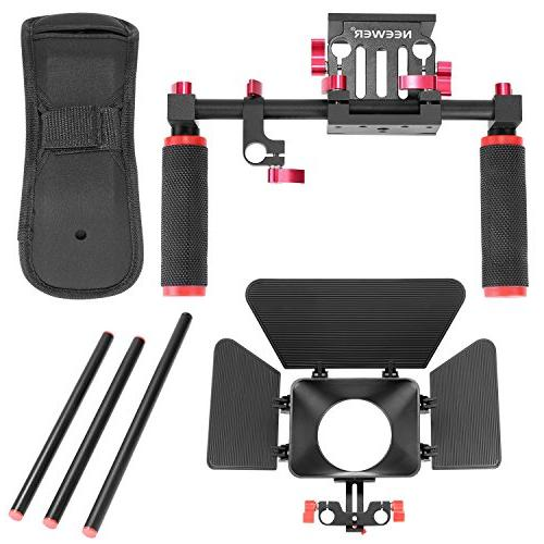 Neewer Camera Kit Sony Other DSLR Cameras, Camcorders,Includes: Shoulder Mount, Standard Rail Rod System, Box