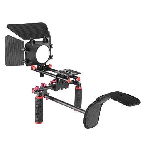 Neewer Camera Movie Video Making Rig System Kit Canon Sony Other Cameras, DV Shoulder Mount, Rail Rod System, Matte