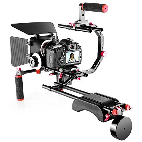 Neewer Movie Video Making Canon and Other Camcorders, Grip,15mm Rod,Matte Rig