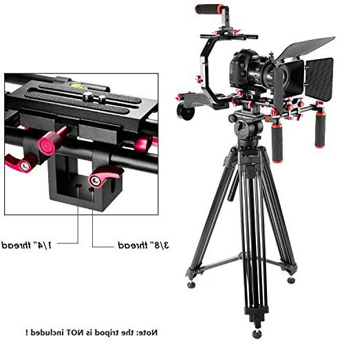Neewer Film Making Canon Nikon and Other DSLR Camcorders, includes: C-shaped Bracket,Handle Rig