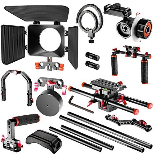 Neewer Making System Canon Other DSLR Camcorders, Bracket,Handle Grip,15mm Rod,Matte Rig