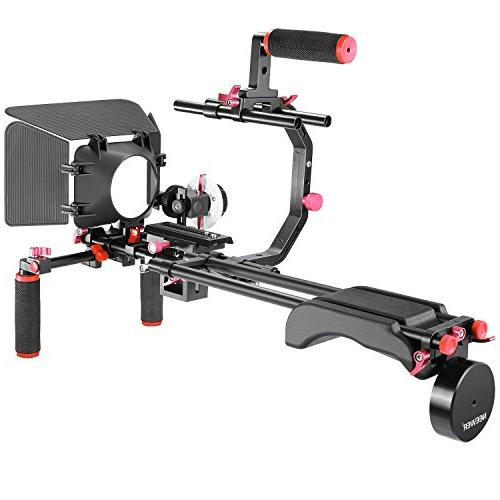 Neewer Movie Making System Kit for Canon Other Grip,15mm Rod,Matte Rig