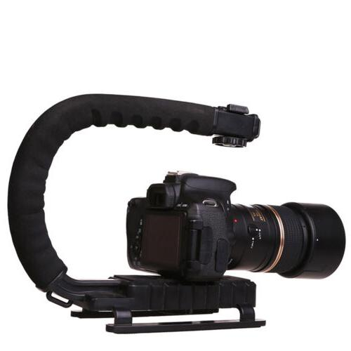 DSLR Camera C/U Shape Bracket Handle Grip Handheld Stabilize
