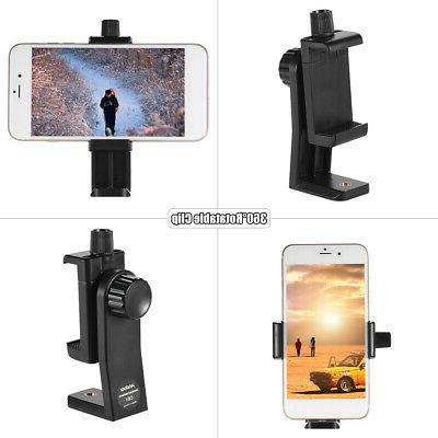 Smartphone Clip Holder Stand Selfie Stick Tripod Cell Phone