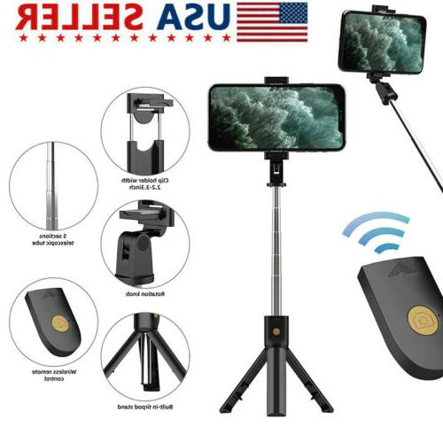 selfie stick tripod remote desk stand phone
