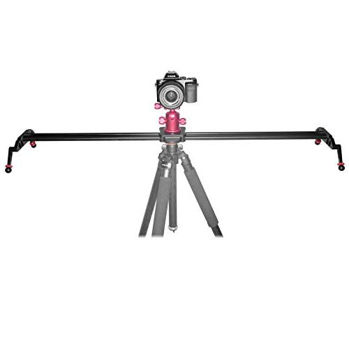 """Fomito 47"""" Dolly Glider Stabilizer with CNC Machining for Video Camera-120cm"""