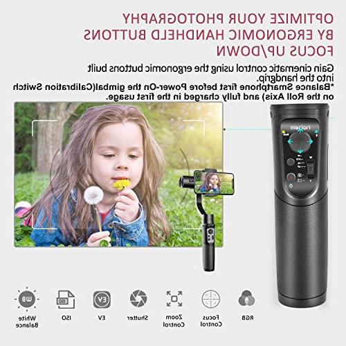 Hohem Smartphone Stabilizer Gimble Lapse Expert w/Focus Pull Face Tracking 210g