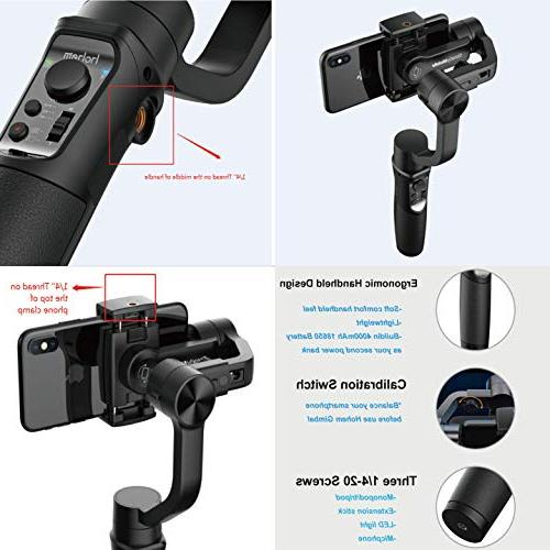 Hohem Smartphone Stabilizer Time Lapse Expert w/Focus Pull & Zoom Tracking 12h 210g