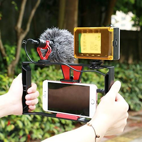Smartphone Rig 96 LED + Boya Filmmaking Recording Vlogging for iPhone Xs Max Ghost Hunting Equipment