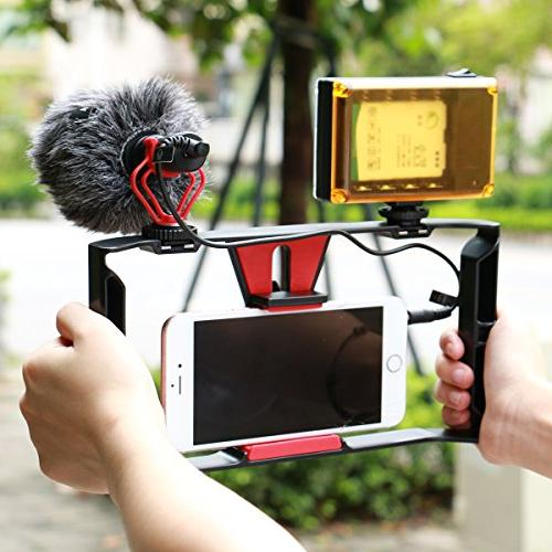 Smartphone Video + 96 LED Boya by-MM1 Filmmaking Recording Vlogging Rig Case,Phone for Xs Xs Max Ghost Hunting Equipment