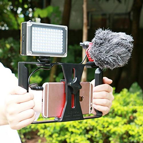 Smartphone Rig 96 LED Boya Microphone,Ulanzi Filmmaking Case,Phone Movies for Max Ghost Hunting Equipment