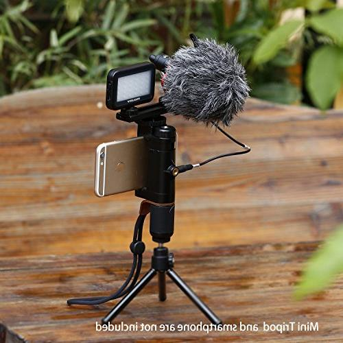 Mouriv Video Rig,iphone Video Phone Vlogging Stabilizer Hand With Mini LED Light, Solid Shoe Extension