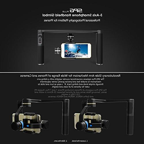FeiyuTech Dual Handle Gimbal, with Five Screw Ports Flashes Tripods Phone Clips